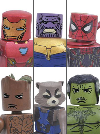 Avengers: Infinity War Minimates Series 1 Two Pack Set of 3