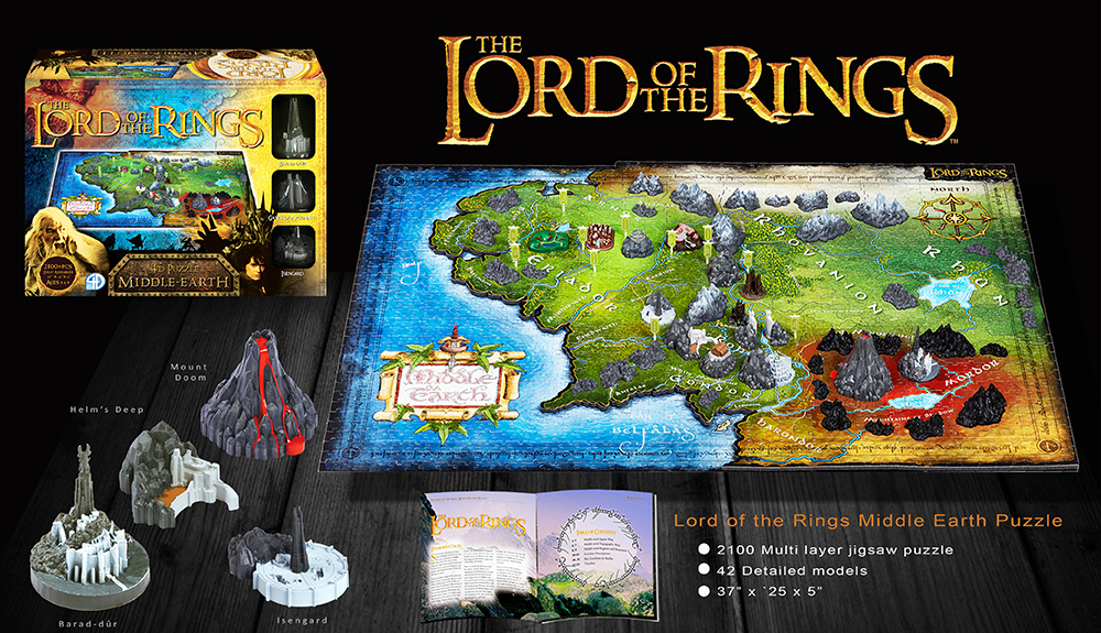BigBadToyStore  Lord of The Rings 4D Cityscape Puzzle  Middle Earth