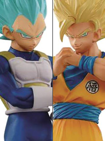 Dragon Ball Super DXF The Super Warriors Vol. 5 Super Saiyan 2 Goku & Super Saiyan Blue Vegeta Set