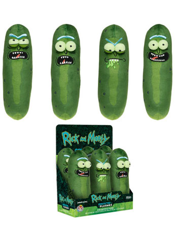 Rick and Morty Galactic Plushies Pickle Rick Box of 6