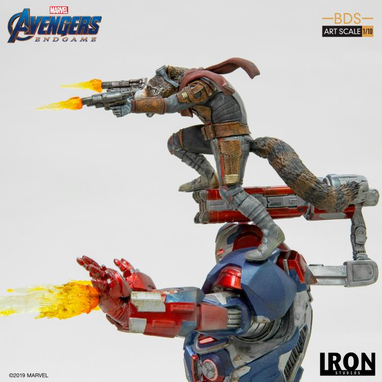 Avengers: Endgame Battle Diorama Series Iron Patriot & Rocket 1/10 Art Scale Limited Edition Statue