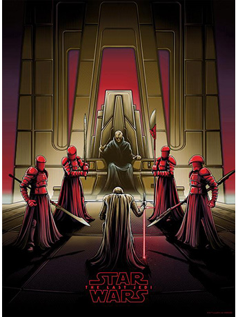 Star Wars Darkness Rises and Light to Meet It Art Print (Variant)