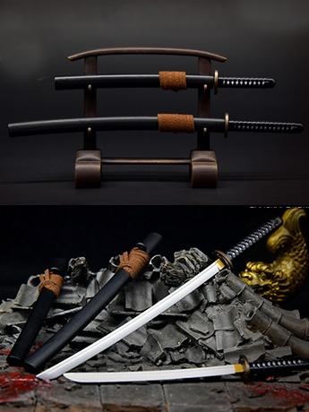 Samurai Sword (Black) 1/6 Scale Accessory Set