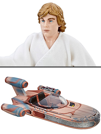 "Star Wars: The Black Series X-34 Landspeeder and Luke Skywalker 6"" Deluxe Set (A New Hope)"