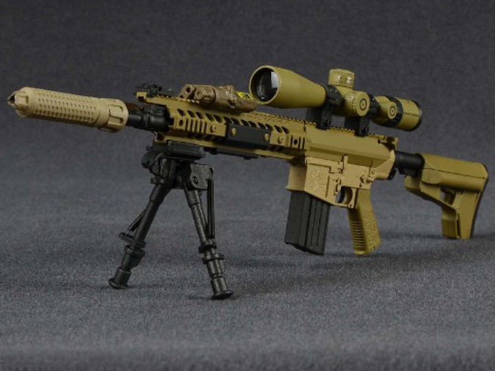 1/6 Scale USMC 7.62mm M110-K1 CSASS Sniper Rifle M110 Sniper Rifle Suppressed