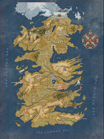 Game of Thrones Cersei's Westeros Map Puzzle