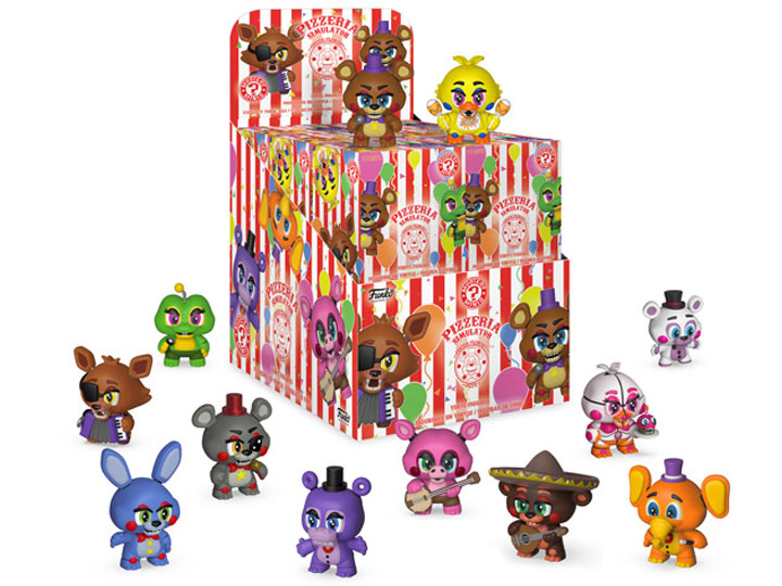 Five Nights At Freddys Pizza Simulator Mystery Minis Box Of 12 Figures