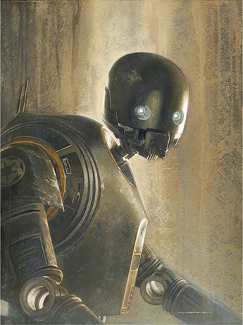 Star Wars Timeless Series K-2SO Giclee (Rogue One)