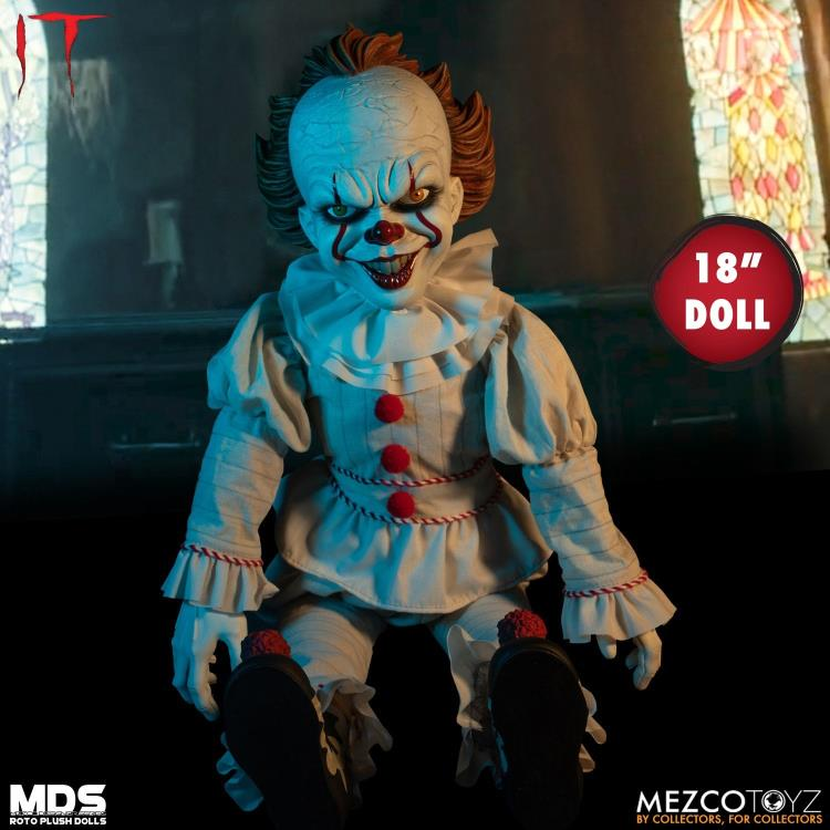 It (2017) Mezco Designer Series Pennywise Roto Plush Doll