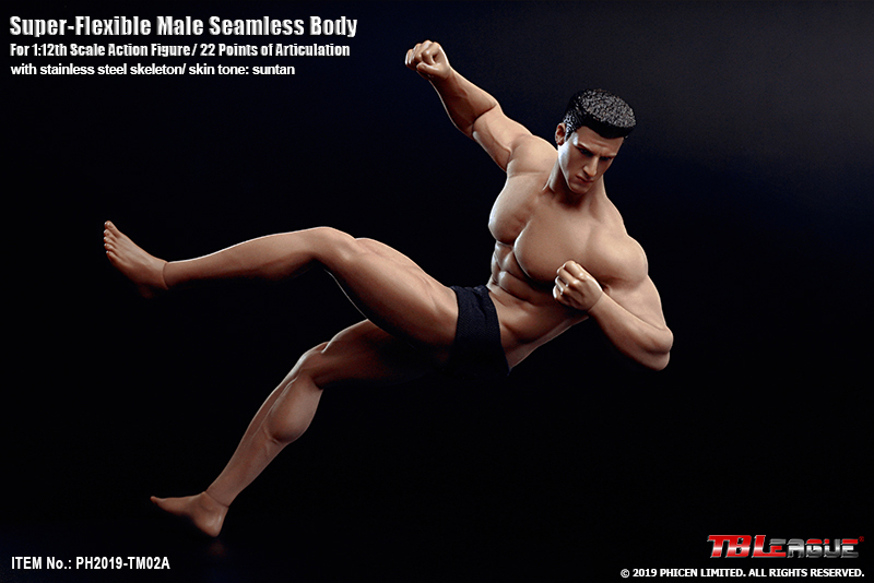 Super-Flexible 1/12 Scale Male Seamless Body (TM02A)
