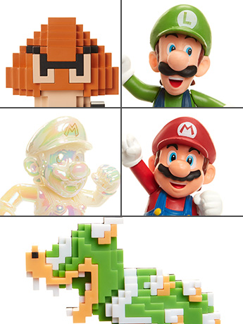 "World of Nintendo 2.50"" Limited Articulation Figure Wave 14 Set of 5"
