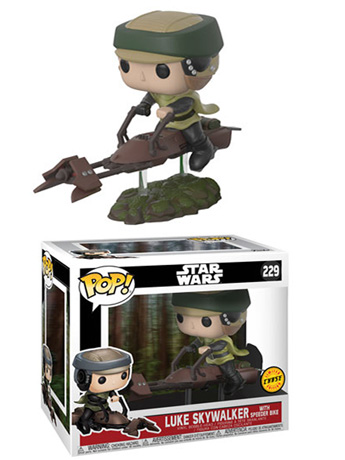 Pop! Deluxe: Star Wars: Return of The Jedi - Luke Skywalker With Speeder Bike (Chase)