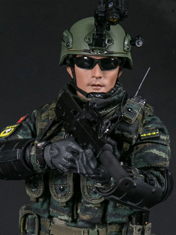 Chinese People's Armed Police Force Snow Leopard Commando Unit Team Leader 1/6 Scale Figure