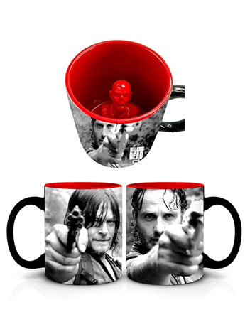 The Walking Dead Daryl and Rick Molded Zombie Mug