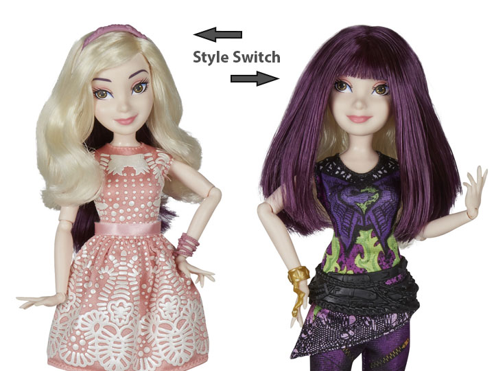 Disney Descendants 2 Isle Style Switch Mal Doll
