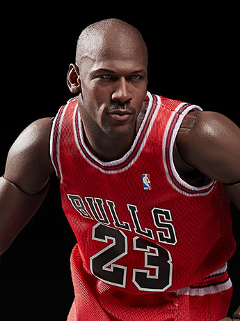 NBA Motion Masterpiece Michael Jordan 1/9 Scale Figure