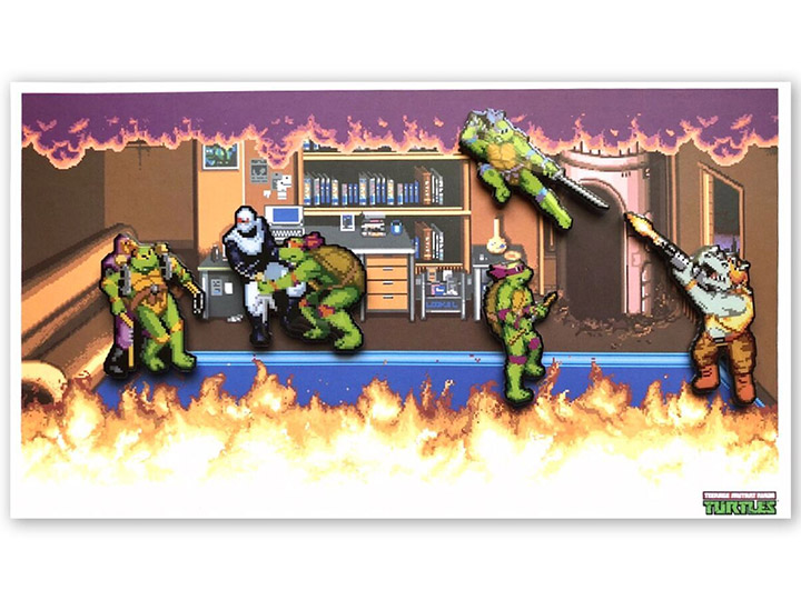 TMNT Arcade Boss Battle Set of 4 Limited Edition Enamel Pins