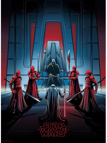 Star Wars Darkness Rises and Light to Meet It Art Print (The Last Jedi)