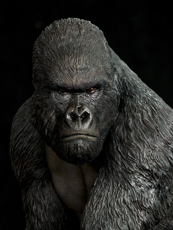 Mountain Gorilla 1/4 Scale Statue