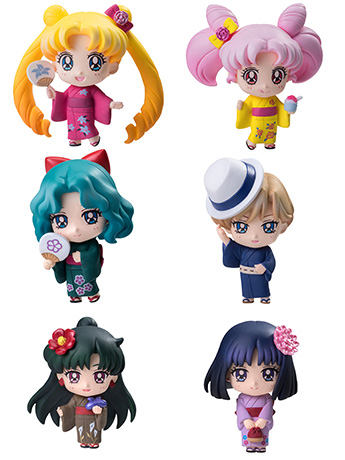 Sailor Moon Petit Chara! Soldier of The Solar System Box of 6