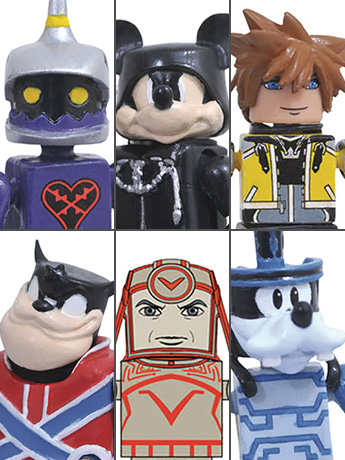 Kingdom Hearts Minimates Series 2 Two Pack Set of 3