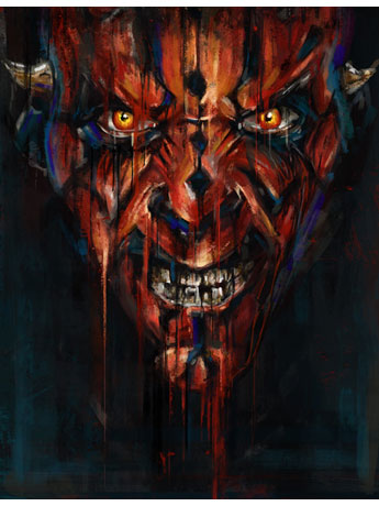 Star Wars Darth Maul SDCC 2018 Exclusive Giclee on Canvas