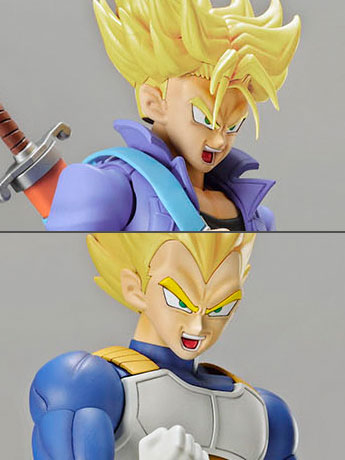 Dragon Ball Z Figure-rise Standard Super Saiyan Trunks & Super Saiyan Vegeta DX Set