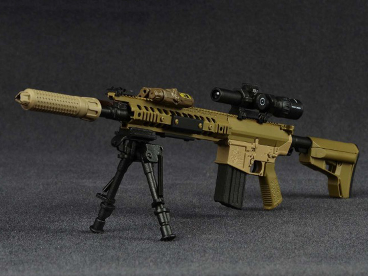1/6 Scale USMC 7.62mm M110-K1 CSASS Spotter Rifle M110 Sniper Rifle Suppressed