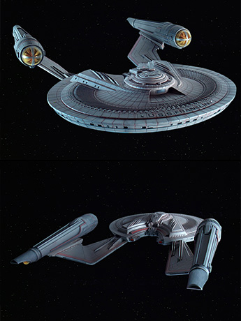 Star Trek: Beyond U.S.S. Franklin 1/350 Scale Model Kit