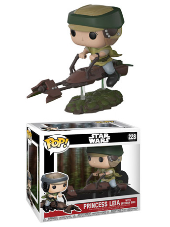 Pop! Deluxe: Star Wars: Return of The Jedi - Princess Leia With Speeder Bike