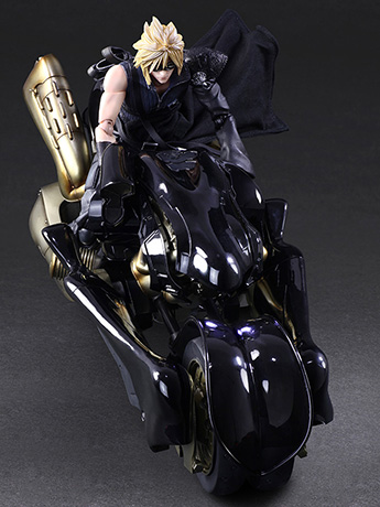 Final Fantasy VII: Advent Children Play Arts Kai Cloud Strife & Fenrir