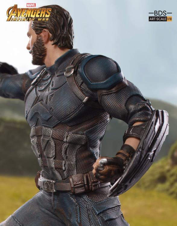 Avengers: Infinity War Battle Diorama Series Captain America 1/10 Art Scale Statue