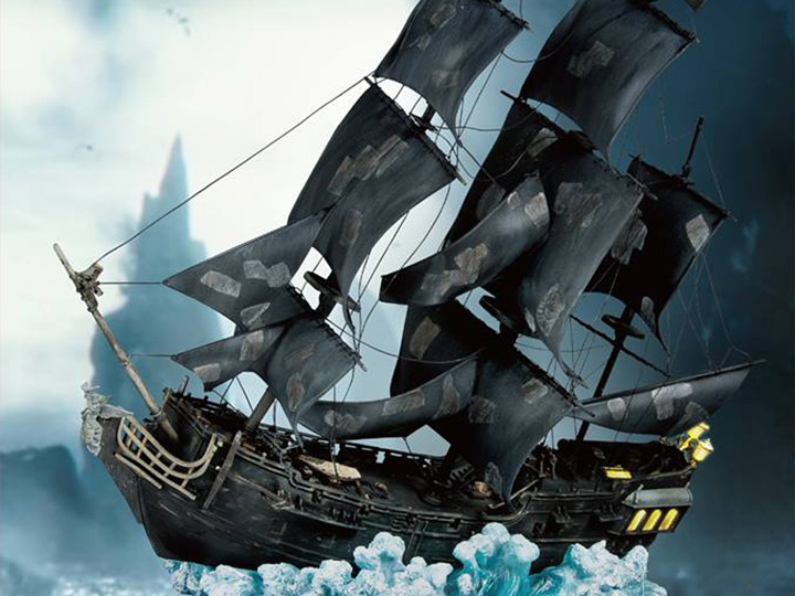 Pirates of The Caribbean Master Craft MC-003 Black Pearl 1/144 Scale Statue PX Previews Exclusive