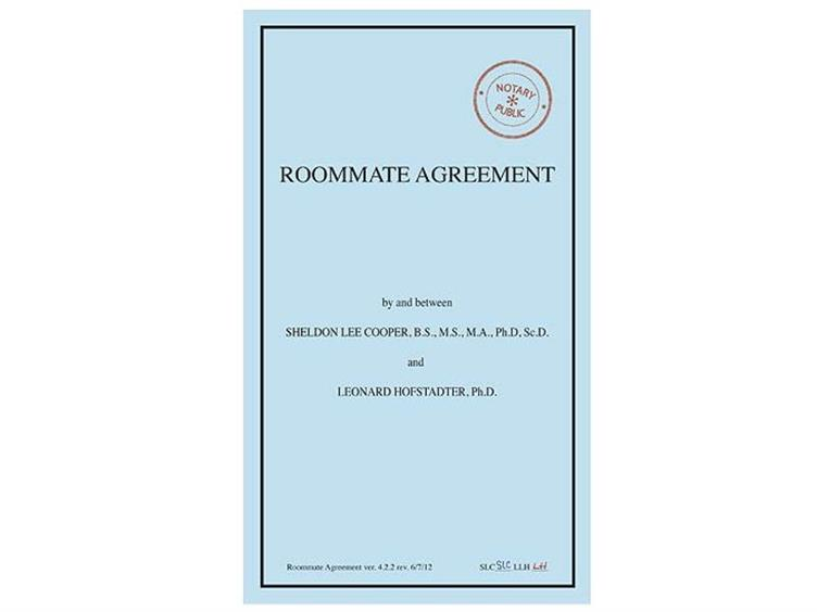 The Big Bang Theory Roommate Agreement Journal