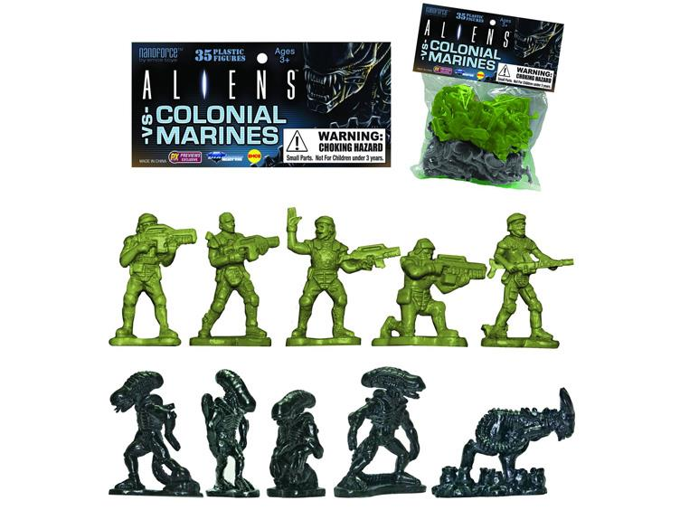 aliens vs colonial marines army builder bag of 35 figures