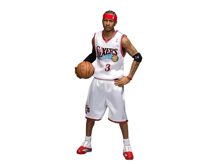 free shipping 8a7eb b343b NBA Real Masterpiece Allen Iverson 1/6 Scale Figure