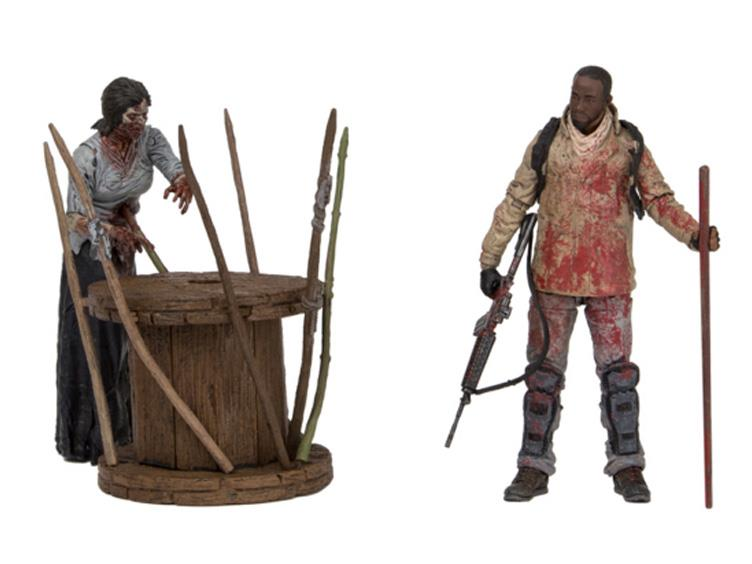 Filme & Dvds Film-fanartikel The Walking Dead Morgan With Impaled Walker And Spike Trap Deluxe Mcfarlane Toy