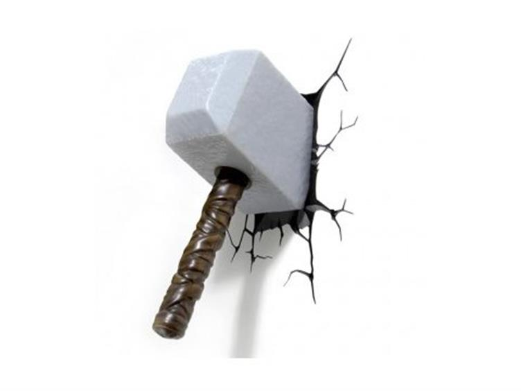 marvel comics 3d led wall decal thor hammer