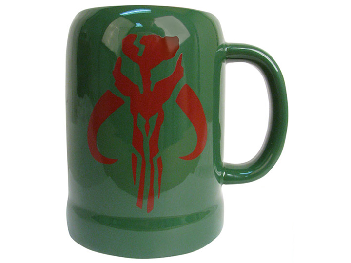 Star Wars Boba Fett Mandalorian Symbol 20oz Ceramic Stein Exclusive