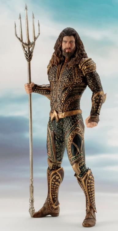 justice league artfx  aquaman statue