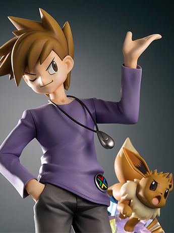 Pokemon ArtFX J Blue Oak With Eevee Statue