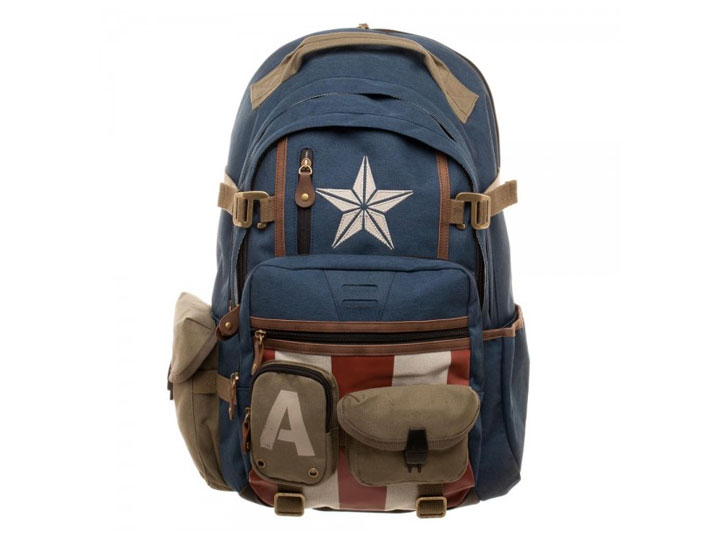 2e781d8098 Product Image Product Image  Marvel Captain America Built with Herringbone  Backpack