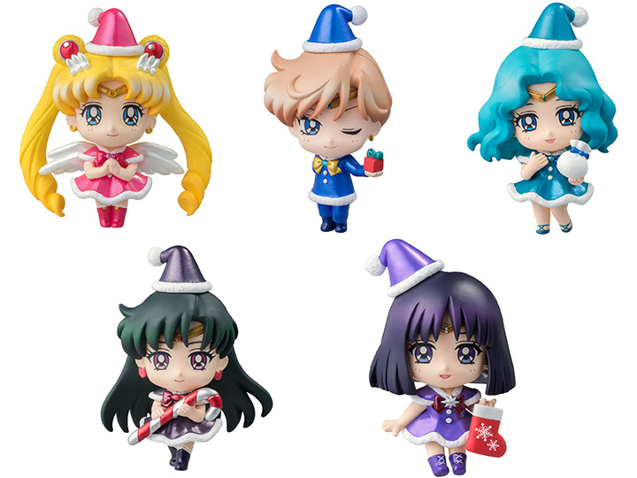 sailor moon petit chara christmas special ver box of 5 figures