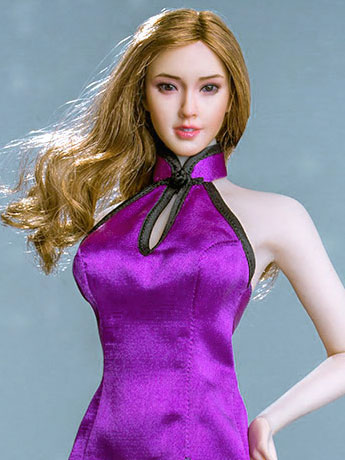 Mini Cheongsam (Purple) 1/6 Scale Accessory Set