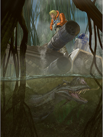 Star Wars What Lies Beneath Giclee (The Empire Strikes Back)