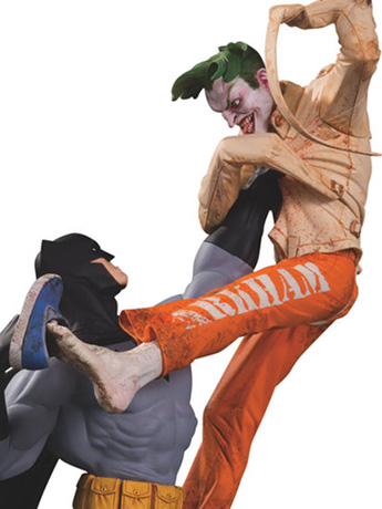 DC Comics Batman Vs. The Joker Laff-Co Battle Statue