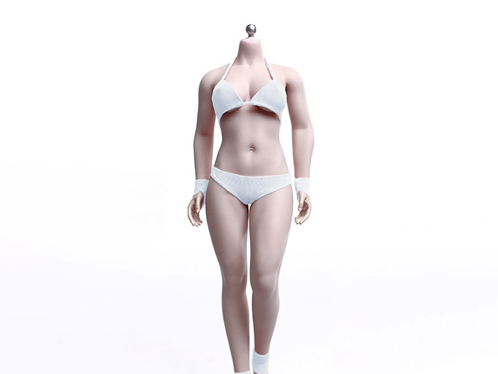 Buxom Woman Super-Flexible 1/6 Scale Seamless Female Body (Suntan)