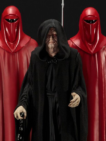 Star Wars ArtFX+ Emperor Palpatine With Royal Guards Statue Three Pack