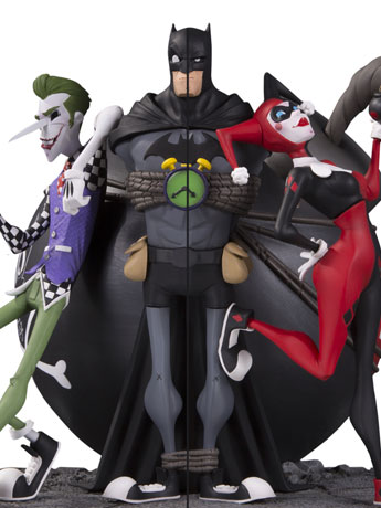 The Joker & Harley Quinn Bookend Set