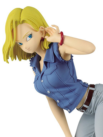 Dragon Ball Z Glitter & Glamours Android 18 (Blue Shirt)